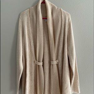 Tan sweater/cardigan